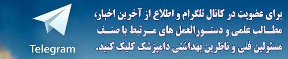 کانال تلگرام انجمن دامپزشکی تهران